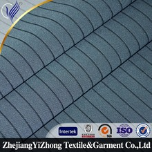 high quality 100%polyester stripe suit fabric