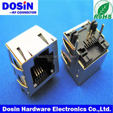 hot sale shield RJ45 Connectors, RJ45 Plug for PCB mount Connector, 8p8c Modular Jack