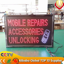 PVC frame biggest size 38*60cm mobile repairs led sign board,led open sign board for shops advertising catching eyes