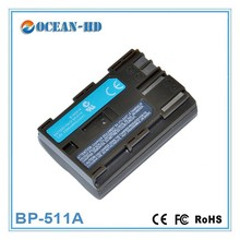 BP-511A for Canon 7.4v rechargeable lithium polymer battery