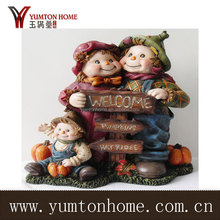 Polyresin kids/animal figurines with welcome letter