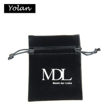 Black high quality Velvet Pouch for Jewelry