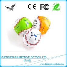 2015 Newest design mini wireless portable baseball bluetooth speaker with microphone and micro USB charger