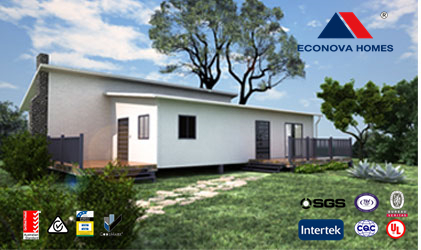 Econova prefabricated modular adu granny flat home cottage for Prefab granny unit california