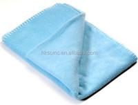 Super soft light blue single 100 polyester polar fleece blanket