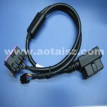obd factory auto diagnostic obd male female cable extension with molex for Vw and Skoda