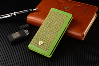 Green Colourful fabric case, checkered fabric design case, wallet cover for iphone
