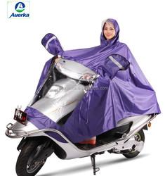 Purple PVC coated fabric Rain Poncho Motorcycle