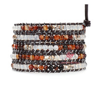 Wholesale mens leather wrap bracelet on promotion, costume jewelry