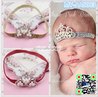 2015 fashion hair accessories Pearl crown Children's hair band baby Princess Baby Newborn Crown Hairband MY-AA0003