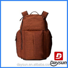 Brown fashion outdoor teenager school laptop backpacks bags