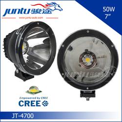"""2015 hot super bright light cannon 7"""" round 12v 24v automotive led headlight cob light JT-4700 car led light 50w"""
