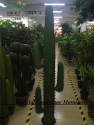 fake cactus combination with three hands for indoor decoration
