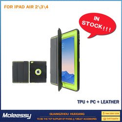 China Supplier pu leather stand case cover for ipad 234 smart case