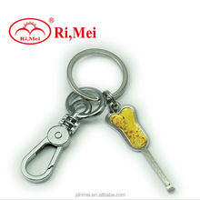 hot sale stylish personalized custom 3d soft pvc keychain foshan pvc keychain manufacturer
