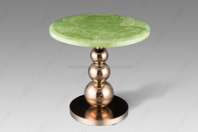 Stainless steel coffee table with marble top JJ002G
