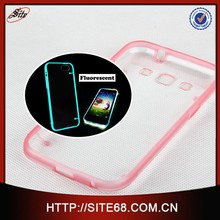 Fluorescent case for Galaxy Samusng I8552,green Light Design cases for samsung,new innovation 2015 phone case for samsung, hot