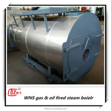 Industrial natural gas and oil steam boiler