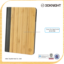100% Real Natural Bamboo Wood Case For ipad mini From Factory