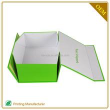 2015 Fashional Rigid Rectangle Folding Brown Paper Gift Box In Shenzhen