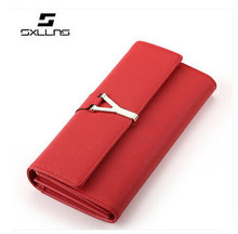 SXLLNS 2015 new fashion beautiful lady women custom hard purse clutch wallets