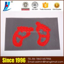 Outdoor Badminton Sports Foot Pattern Rubber Floor Mat
