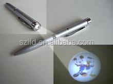 aluminum logo design led pen projection light for halloween