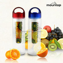 2015 New innovative plastic drinking cups, voss water bottle infuser, cold water fountain bottle design