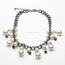 the new design white pearl bead jewelry necklace