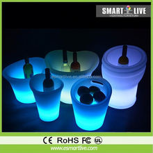 color changing led bottle bucket, led ice bucket pink color