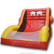 Commercial inflatable double shot basketball for sale
