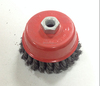 High quality twisted stainless steel wire cup brush for machine polishing