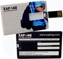 Free sample! 2013 promotional credit card USB flash drives, card shape pen drives, two sides full color printing logo