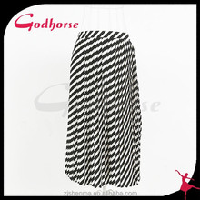2015 White and Black Stripe Fashion Lady Skirt