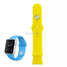 Rubber Watch Band For Apple Watch 38MM Strap Rubber Watch Band Wrist Band Strap For iWatch 38mm With Metal Connector Adapter