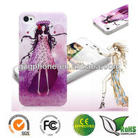 Accessory mobile phone hard case for iphone 5 with printing