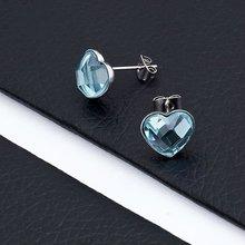 Fashion Hottest Stainless Steel Heart Rhinestone Earrings 2012(BR10244)