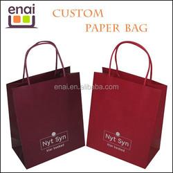 2015 new unique eco paper slap-up kraft paper made wine paper bag