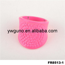 new elegant design rose pink round dot alloy finger ring