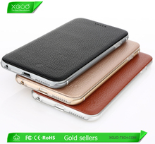 Factory price in stock genuine leather aluminum silicone back case for iphone 6,for iphone 6 genuine leather case