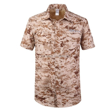 Outdoor military Comfort Breathable Detachable climbing dry fit shirt short sleeve Multi pockets shirt