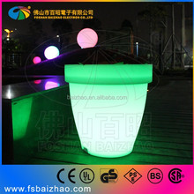 outdoor solar led plant stacking planter light