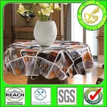 Vuelos manteles redondos desechables con soporte no tejido para uso mesa de café