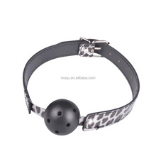 New Slive leopard ball gags sex toys, Mischievous Toys crazy ball mouth spike ball