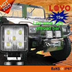 "4"" 5leds*3w portable high birghtness fluorescent 15w work light die-cast alloy ip68 ce rohs emark dot"