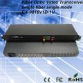 16ch vídeo fibra óptica transmissor e receptor 1 invertida dados transceptor de fibra óptica