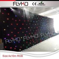 4*10m magic colo led star curtain decoration on wedding
