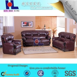 Turkish full cotton soft seating heavy capacity top grain leather modern sofa for sale