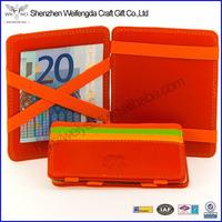 Hot Sale Genuine Leather Credit Card Magic Zippered Coin Purse