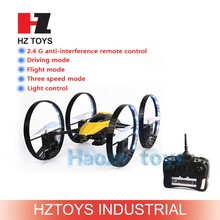 Top selling 2.4G 4CH drone can flying and walking toys radio control toy car model with camera.
